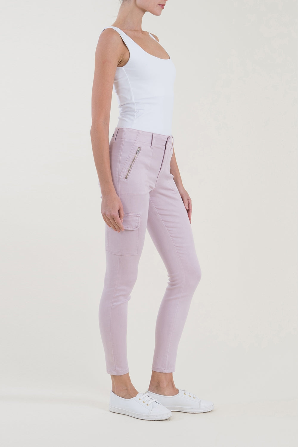 Brooklyn Skinny Cargo Violet Ice