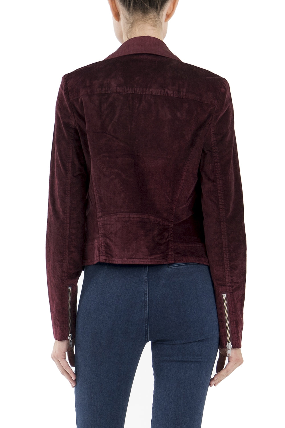 Ruby Cranberry Moto Jacket