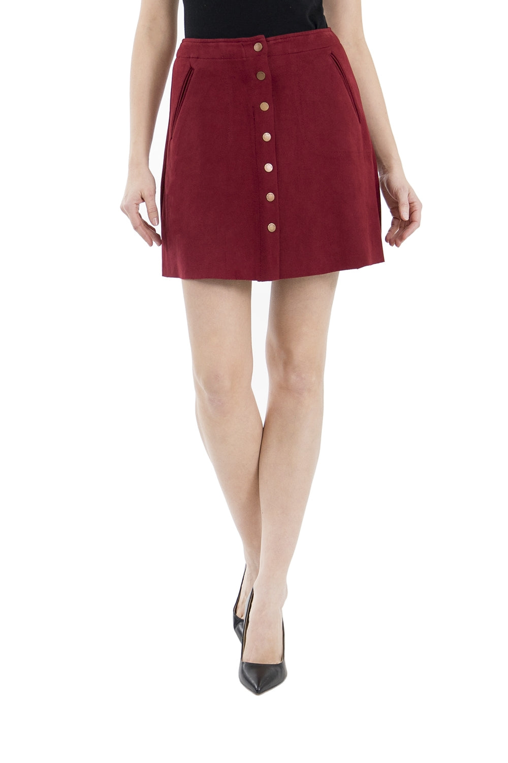 Level 99 Faux Suede Skirt