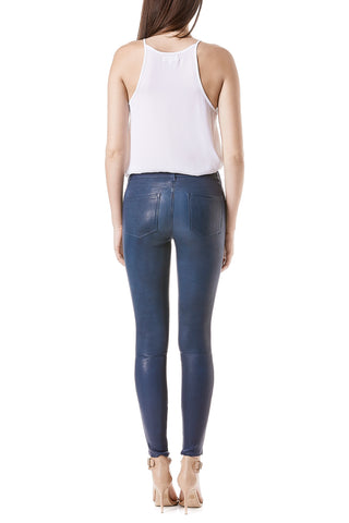 Leather Janice Mid Rise Skinny