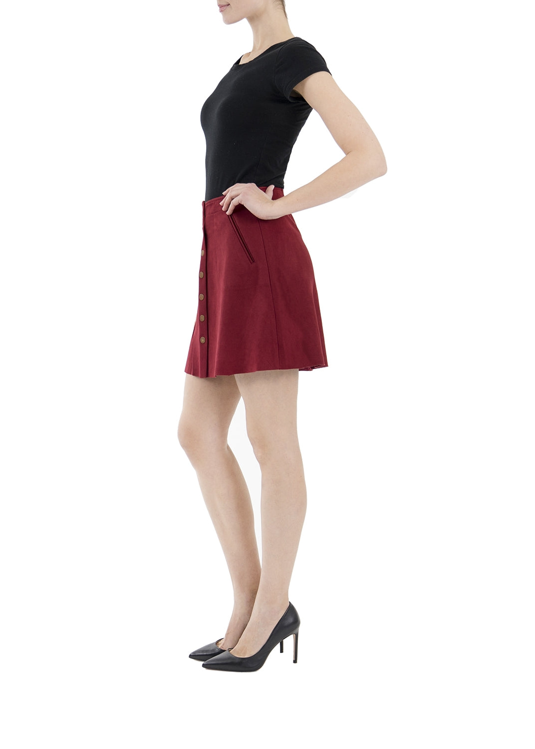 Roselle Suede Skirt