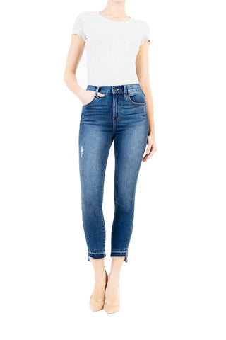 Elle High Rise Uneven Hem