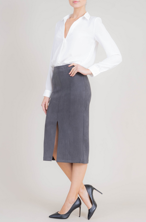 Connie Faux Suede Skirt