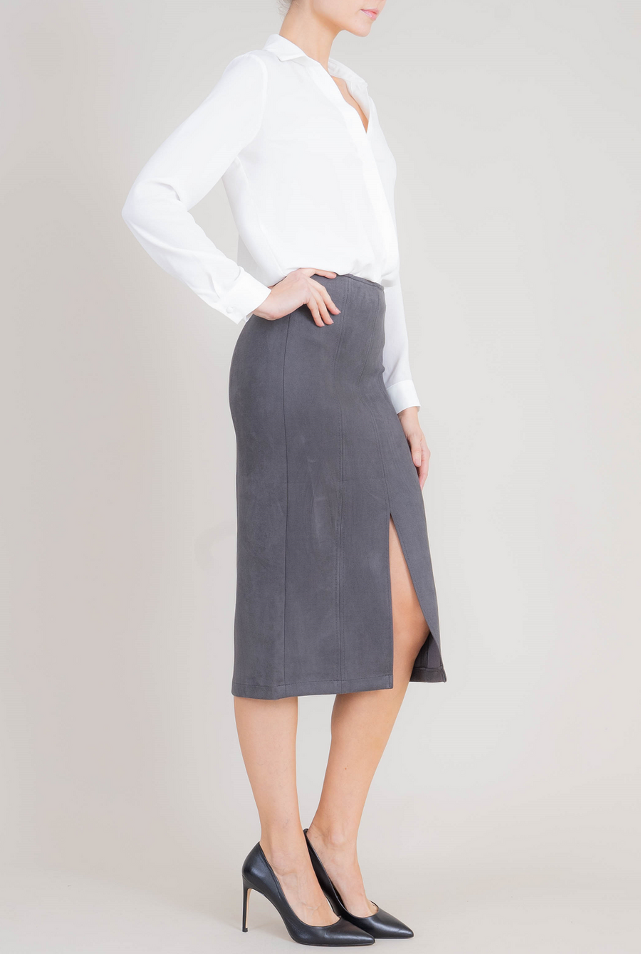 Connie Faux Suede Skirt - level99jeans