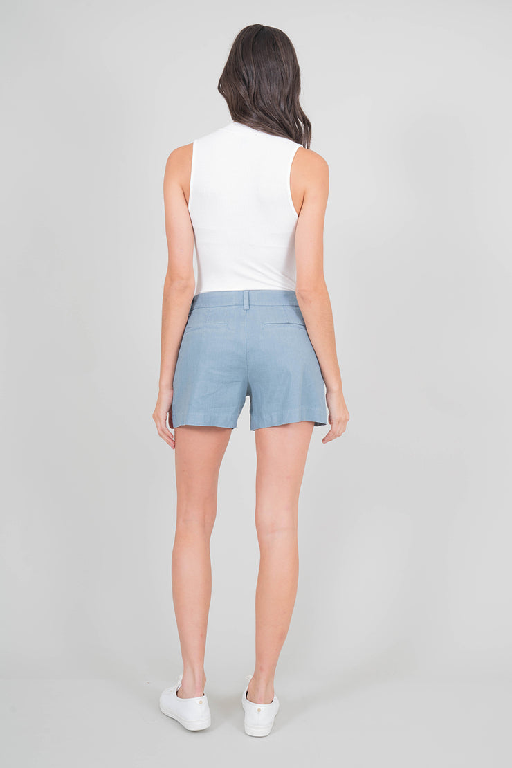 Lyndie Exposed Button Front Short