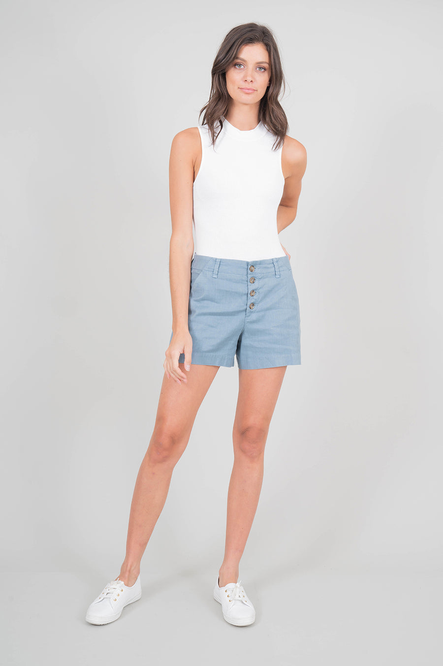 Lyndie Exposed Button Front Short - level99jeans