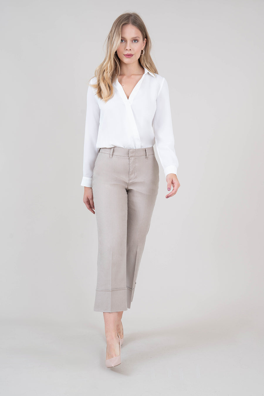Lauren Linen Crop Pant - level99jeans