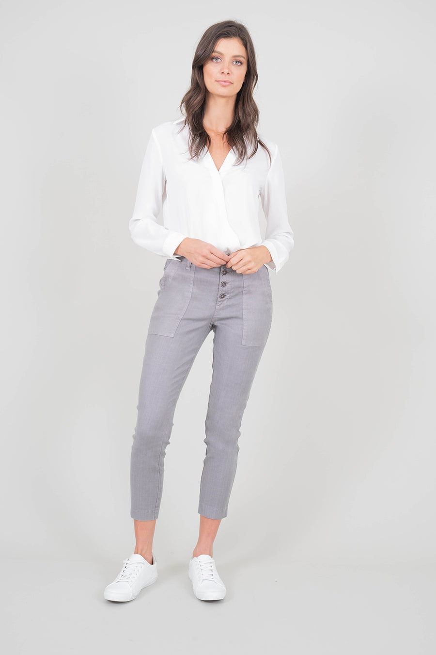 Exposed Button Fly Utility Pant - level99jeans