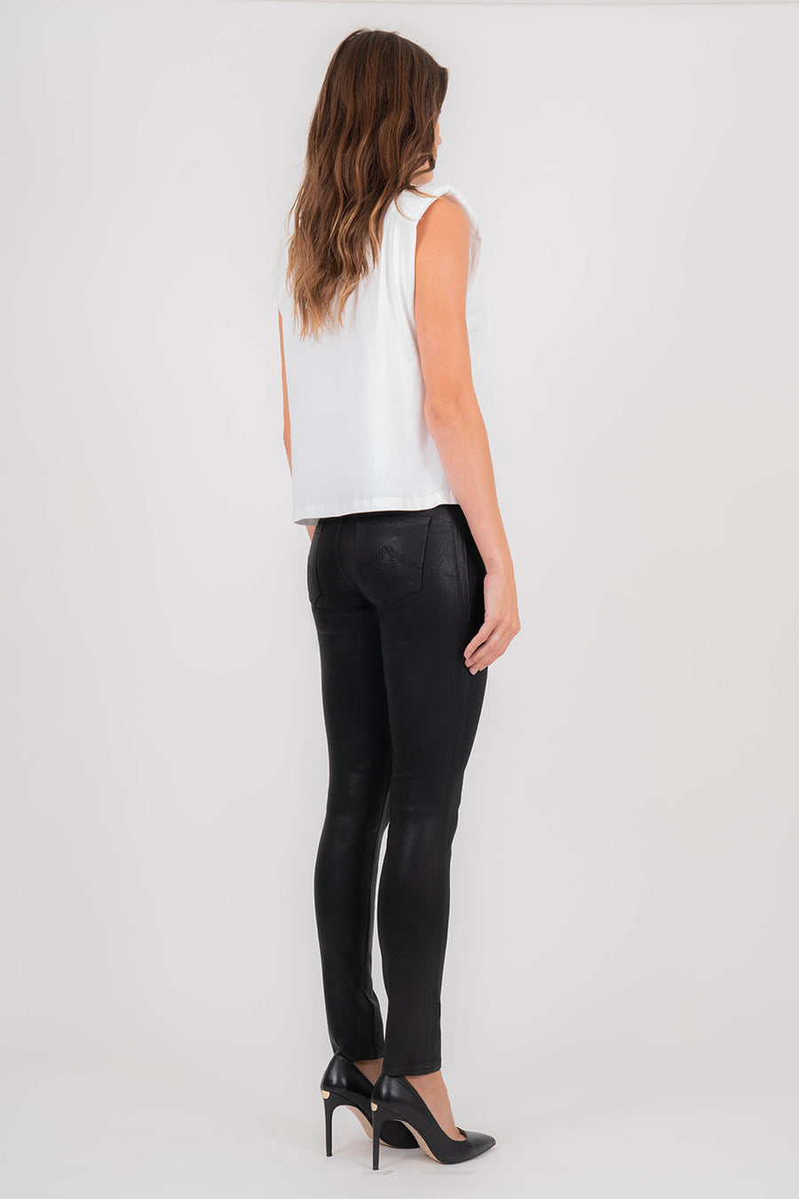Eco-Leather Skinny Jeans