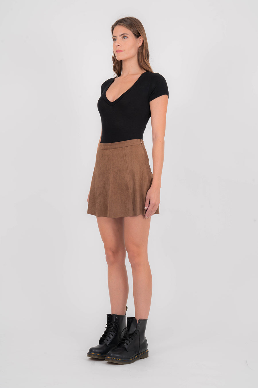 Vegan Suede Skirt
