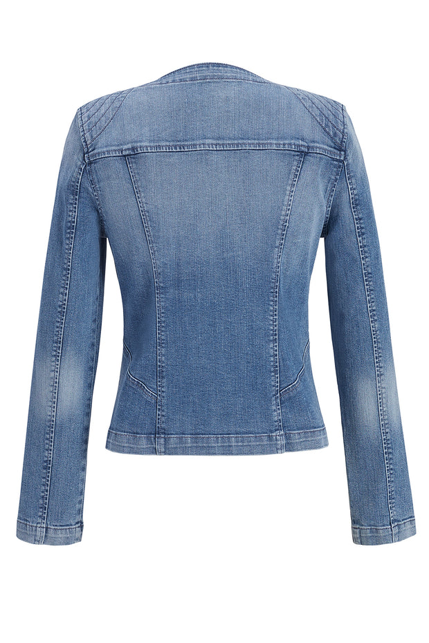 Melissa Denim Zip Up Jacket