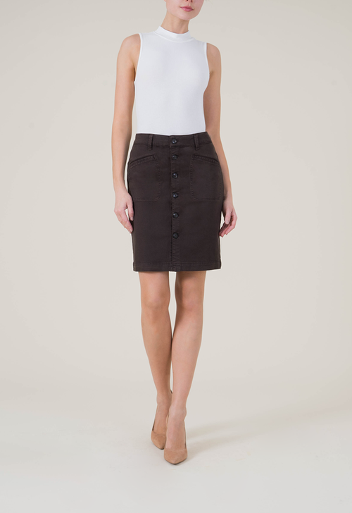Claire Button Front Skirt