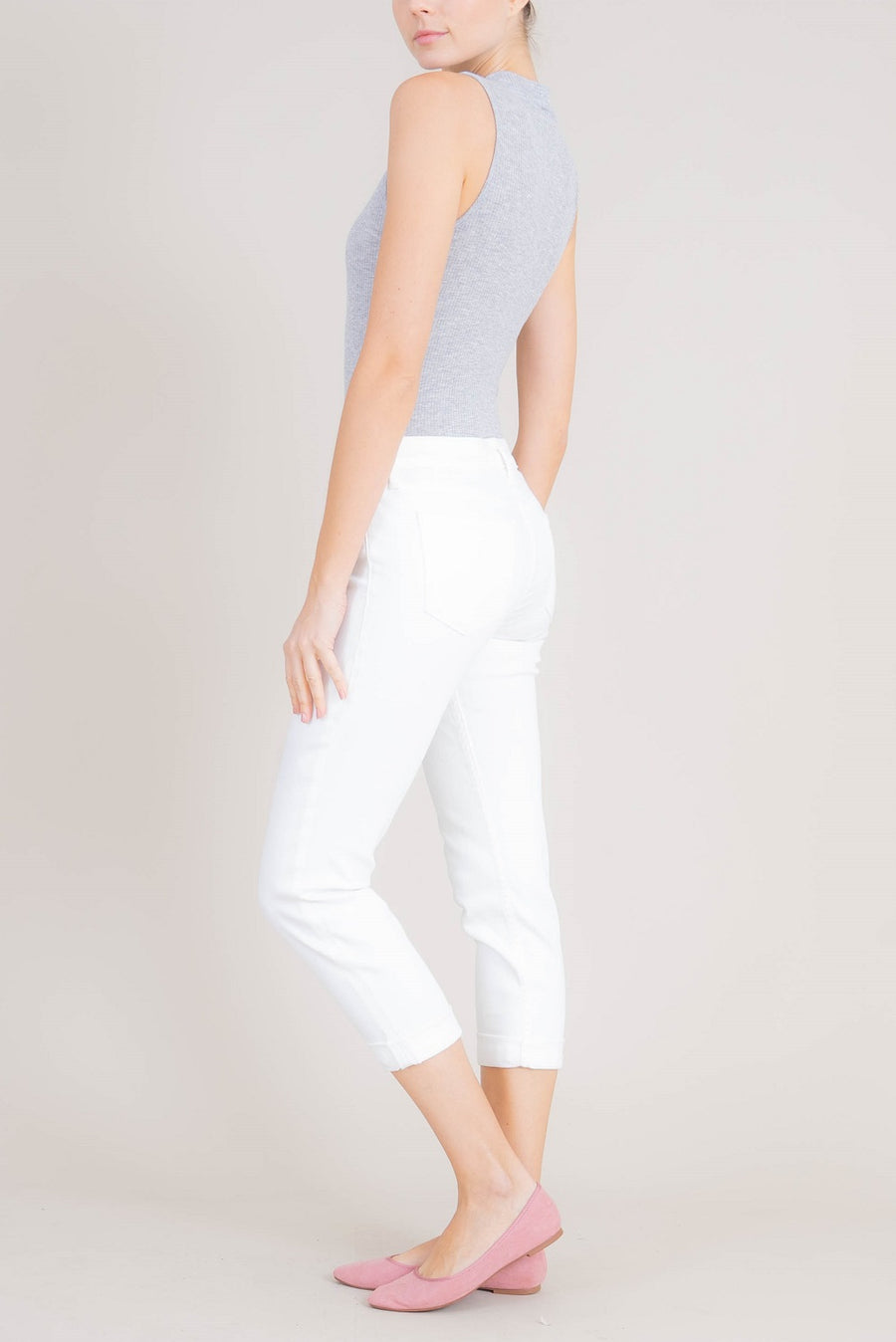 Lily Midrise Rolled Crop - level99jeans