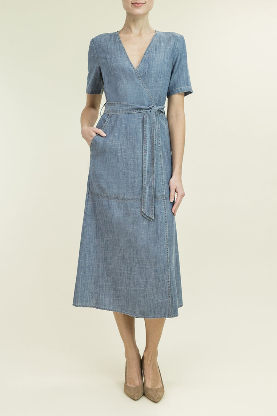DAPHINE WRAP DRESS - level99jeans