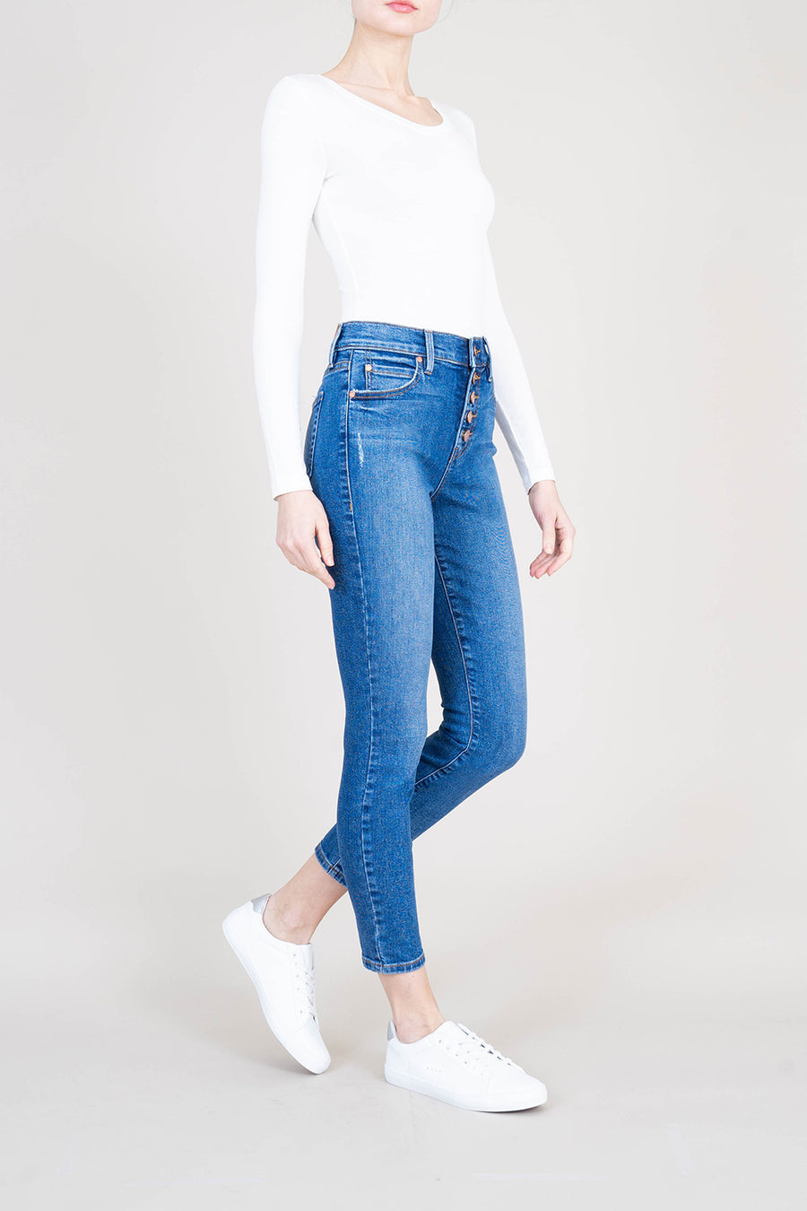 Heidi Exposed Button Fly - level99jeans