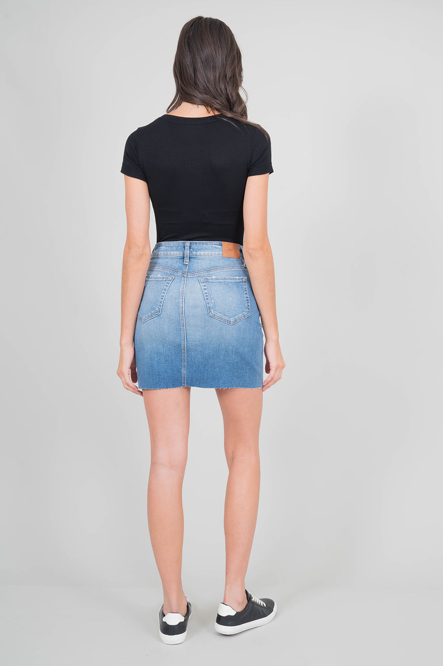 Lana Exposed Button Skirt - level99jeans