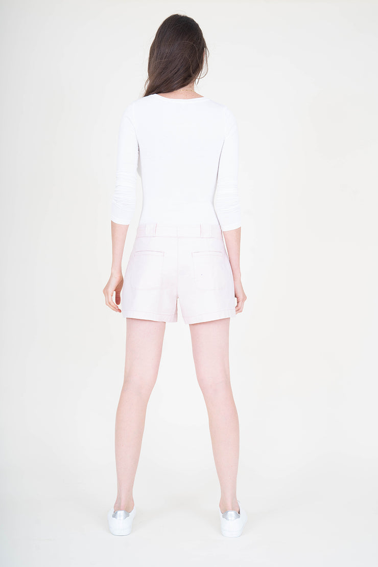 Nina Tie Belt Stretch Linen Short