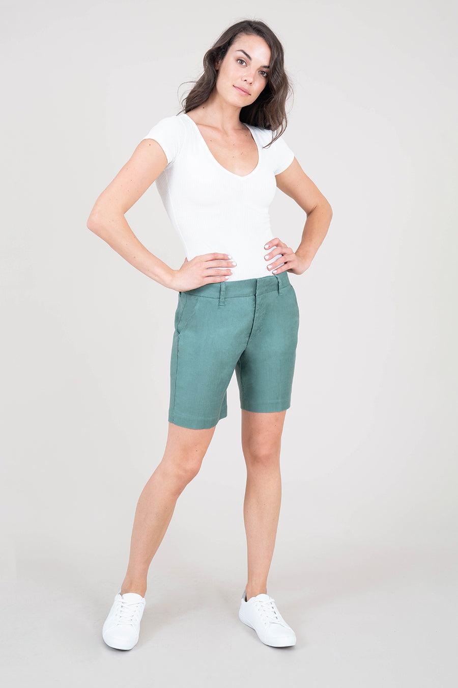 Cindie Stretch Linen Short - level99jeans