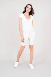 Cindie Stretch Linen Short
