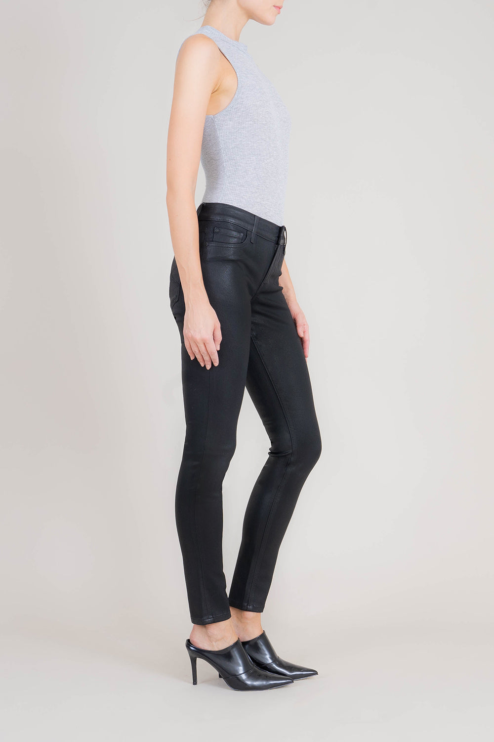 Krissy Coated Faux Leather Skinny