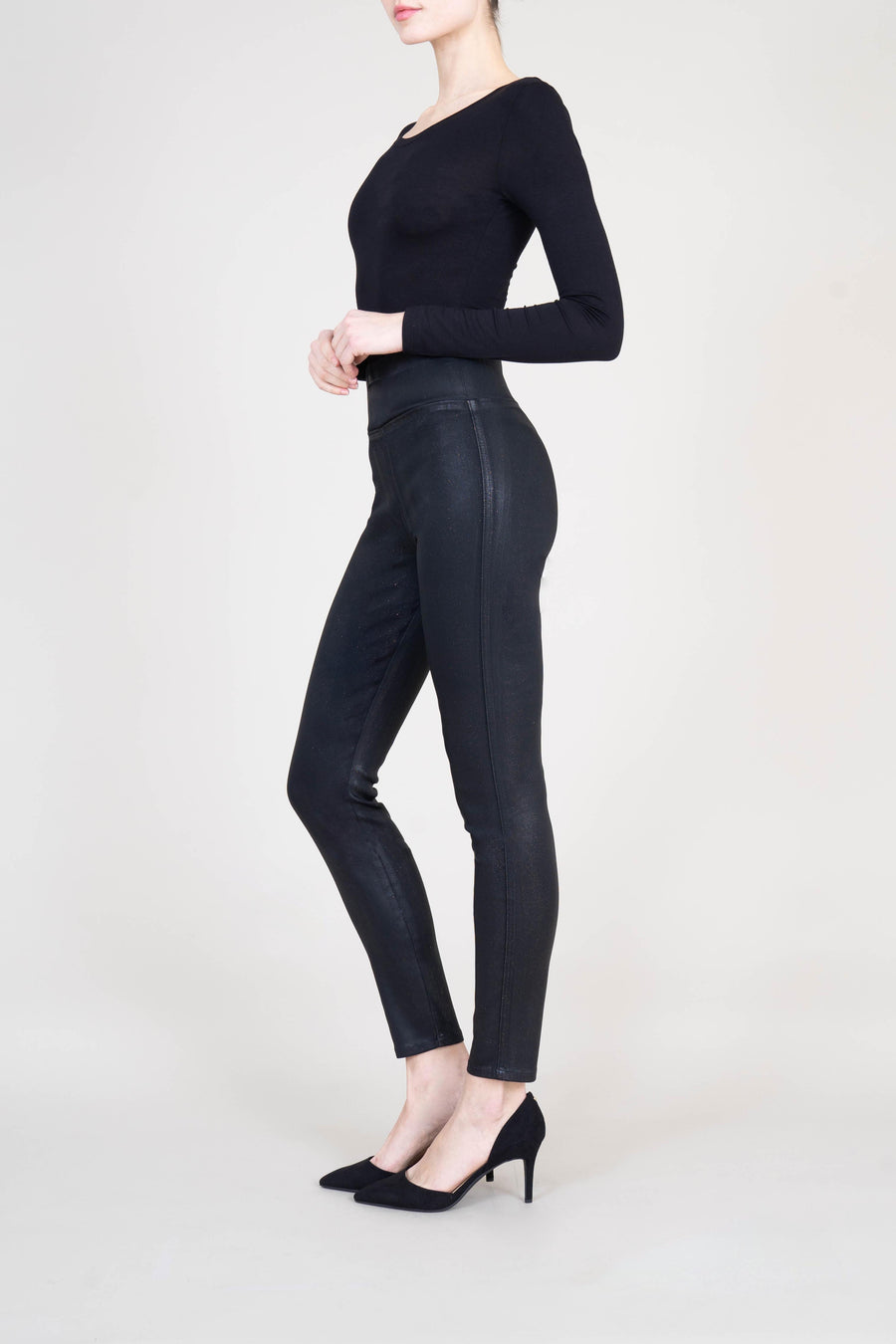Francis Coated Pull On Legging - level99jeans