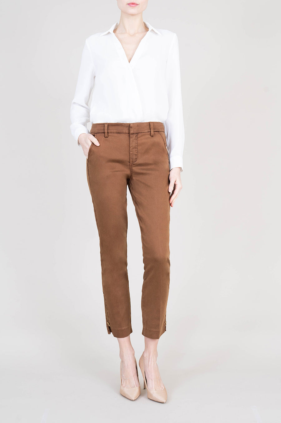 Brittany Zipper Hem Trouser - level99jeans