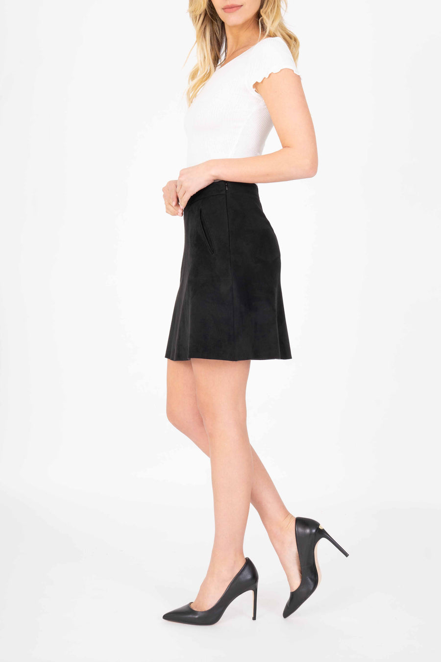 Colette Faux Suede Skirt - level99jeans