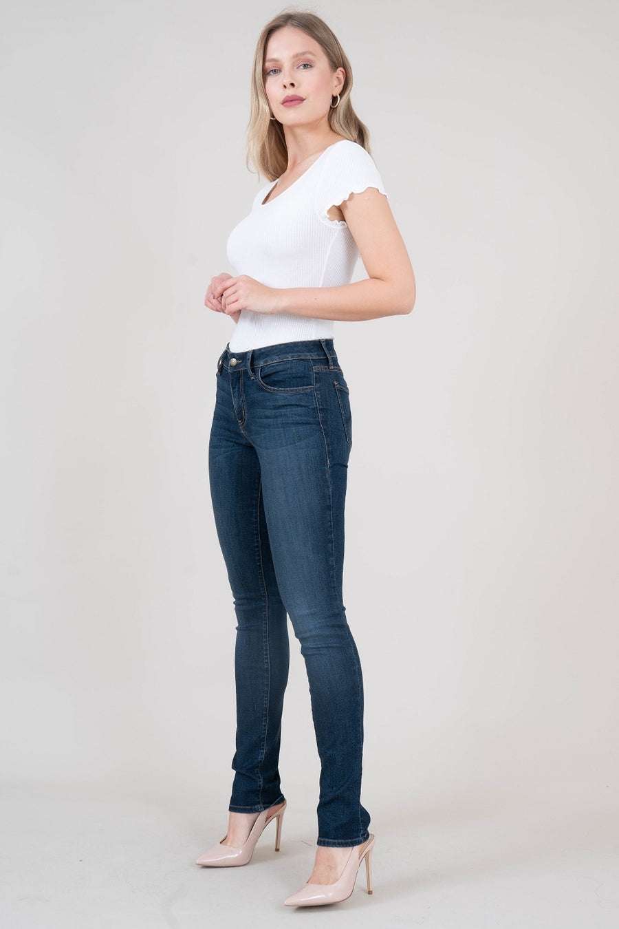 Lily Midrise Skinny Straight - level99jeans