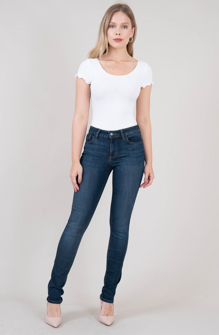 Lily Midrise Skinny Straight