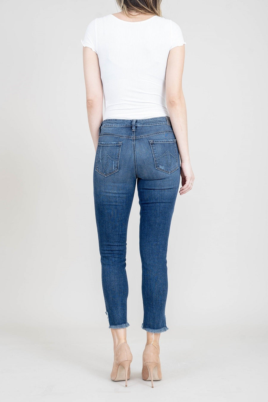 Janice Mid Rise Ultra Skinny - level99jeans