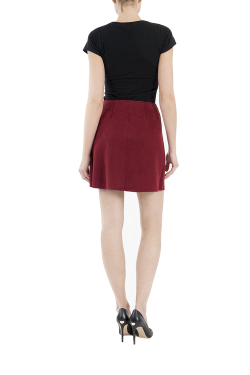 Suede Roselle Skirt
