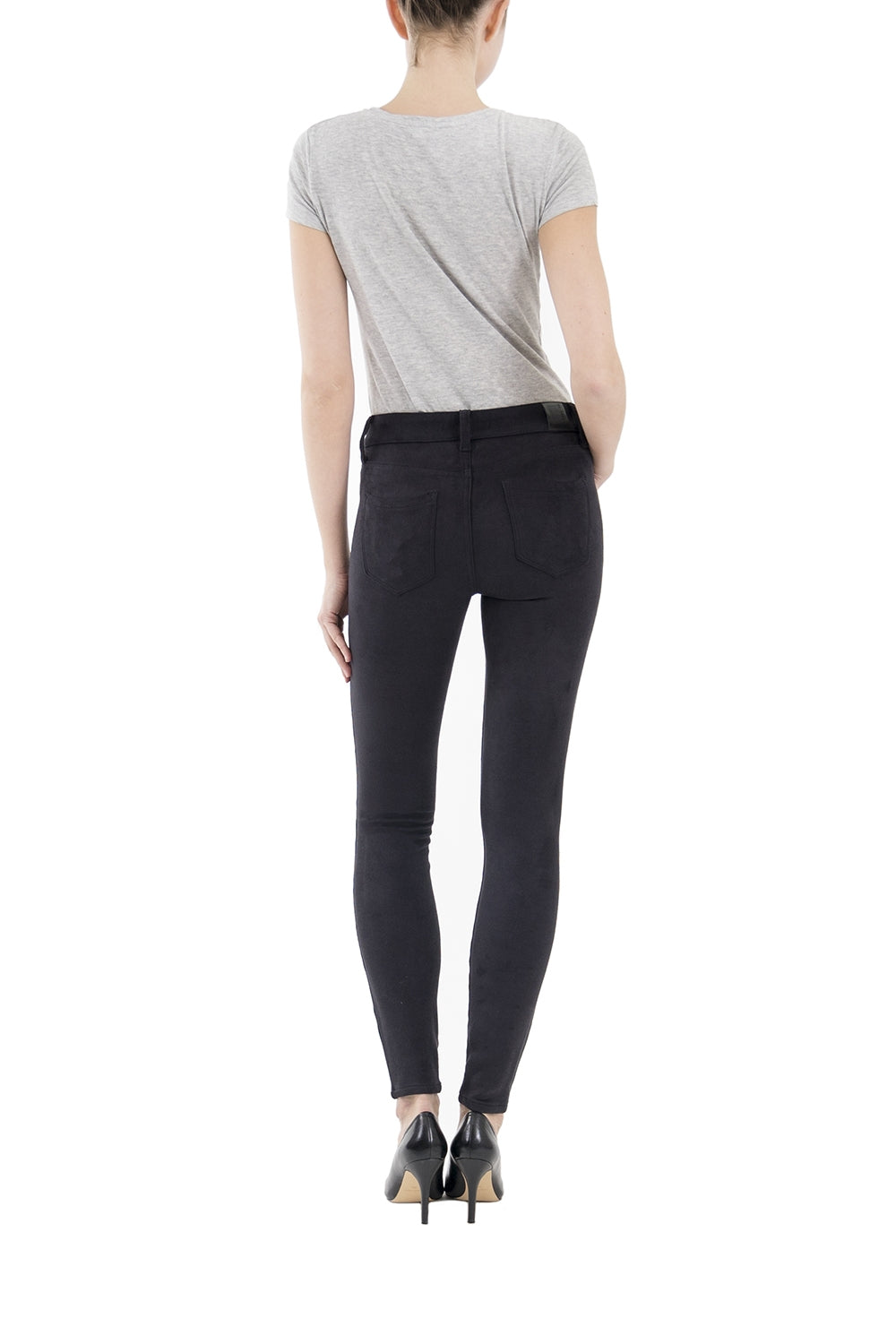 Suede Janice Mid Rise Skinny