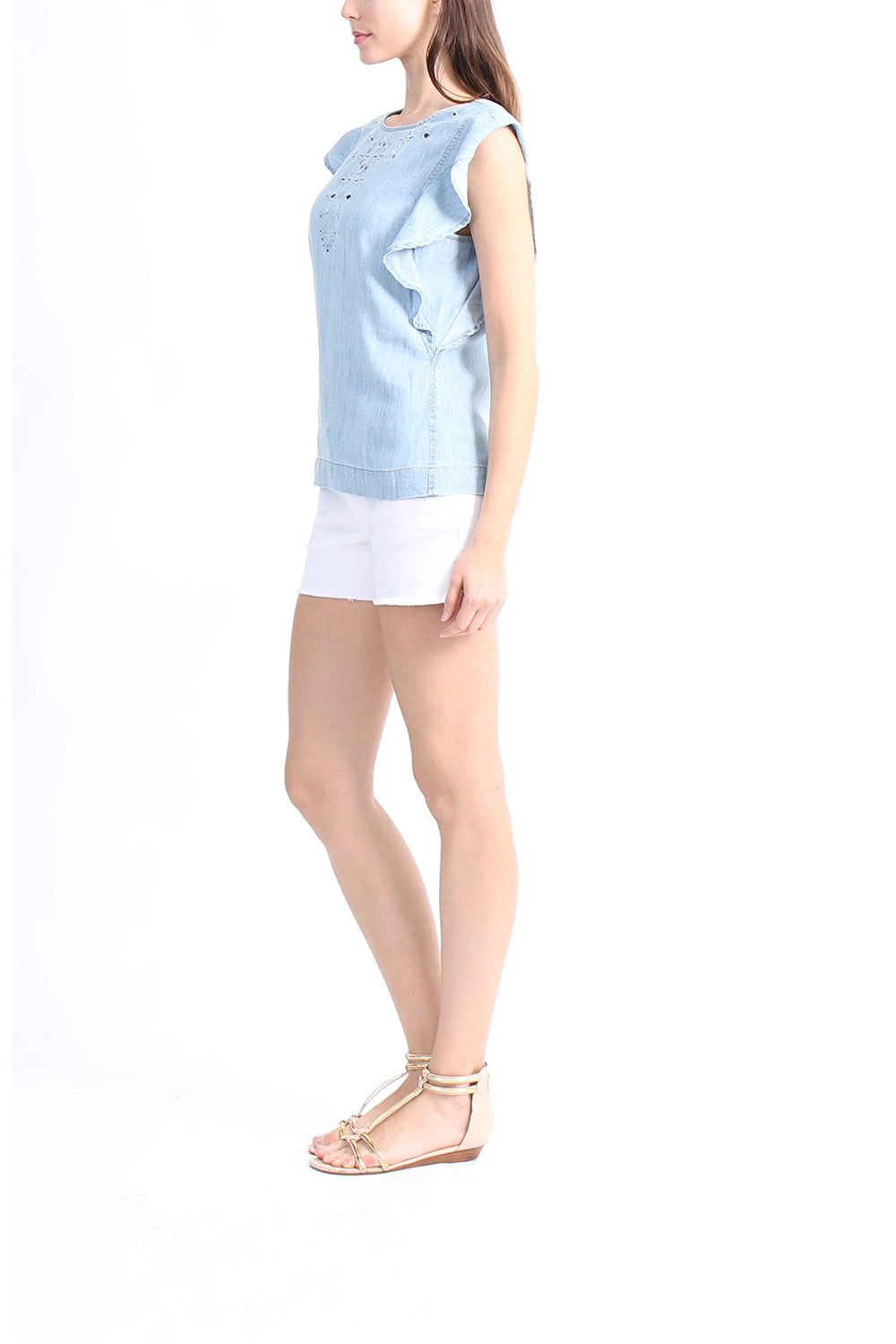 Level 99 Chambray Top