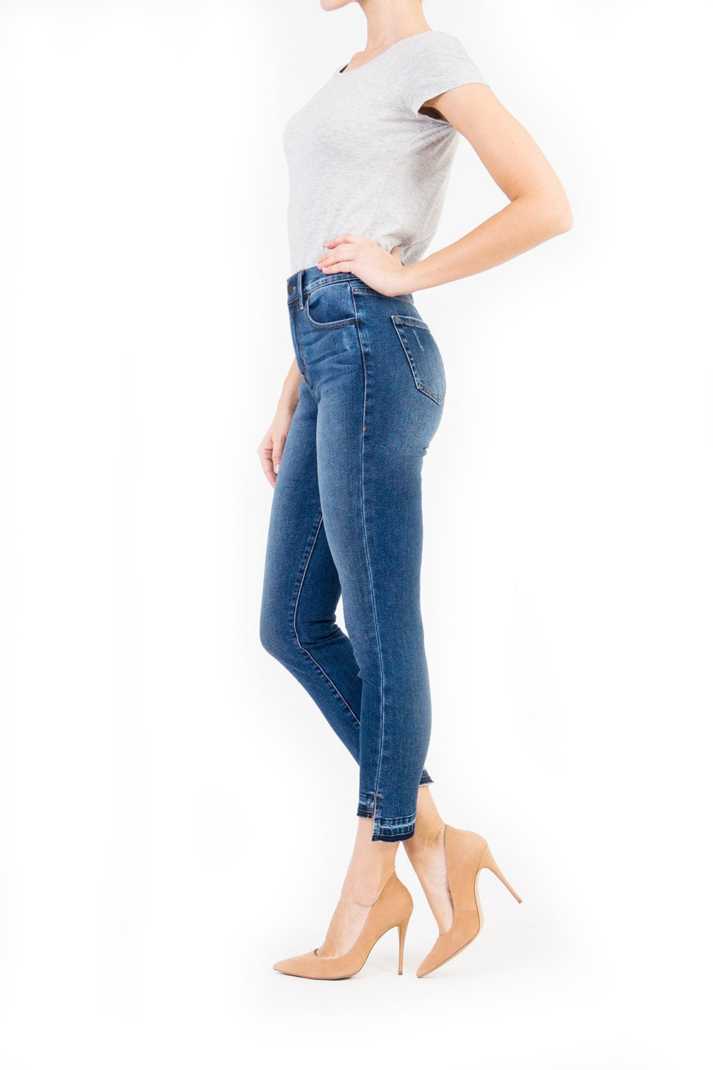 Elle High Rise Uneven Hem After Math