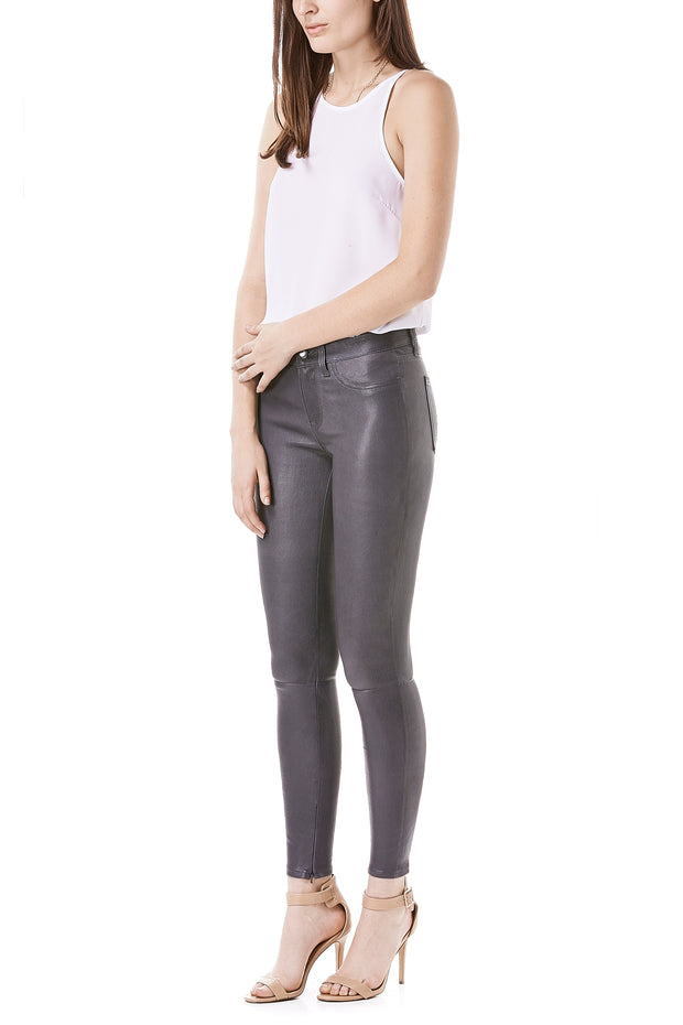 Janice Mid Rise Leather Pants