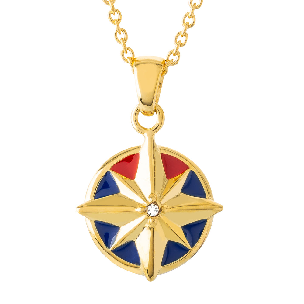 Marvel's Captain Marvel Enamel Star Necklace