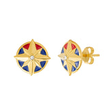 MARVEL'S CAPTAIN MARVEL Enamel Star Earrings - Posts