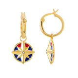 Marvel's Captain Marvel Enamel Star Earrings - Hoops
