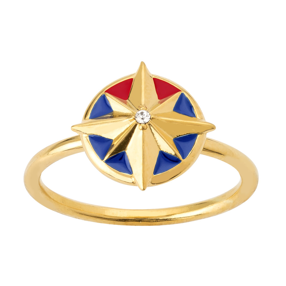 Marvel's Captain Marvel Enamel Star Ring