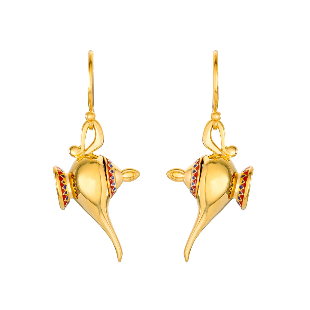 DISNEY'S ALADDIN Hinged Magic Lamp Earrings