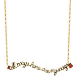 DISNEY'S ALICE IN WONDERLAND All Ways Here are My Ways Necklace