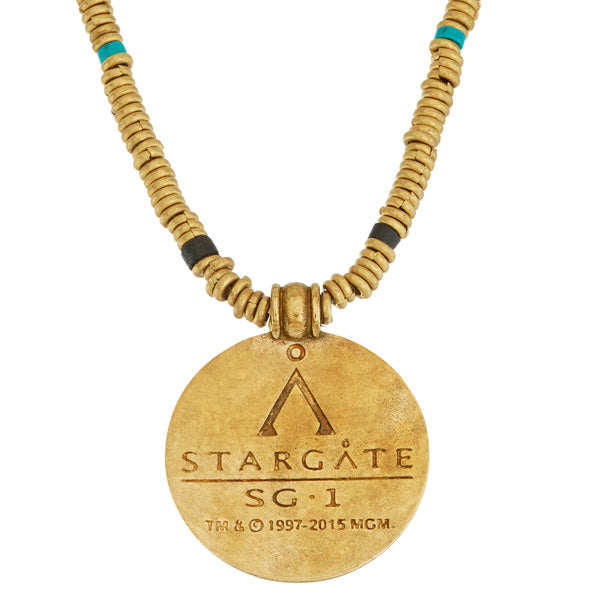 STARGATE Brass Eye Of Ra Necklace