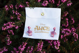 DISNEY'S ALICE IN WONDERLAND Cheshire Cat Enameled Earrings