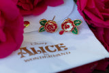DISNEY'S ALICE IN WONDERLAND Painting the Roses Stud Earrings