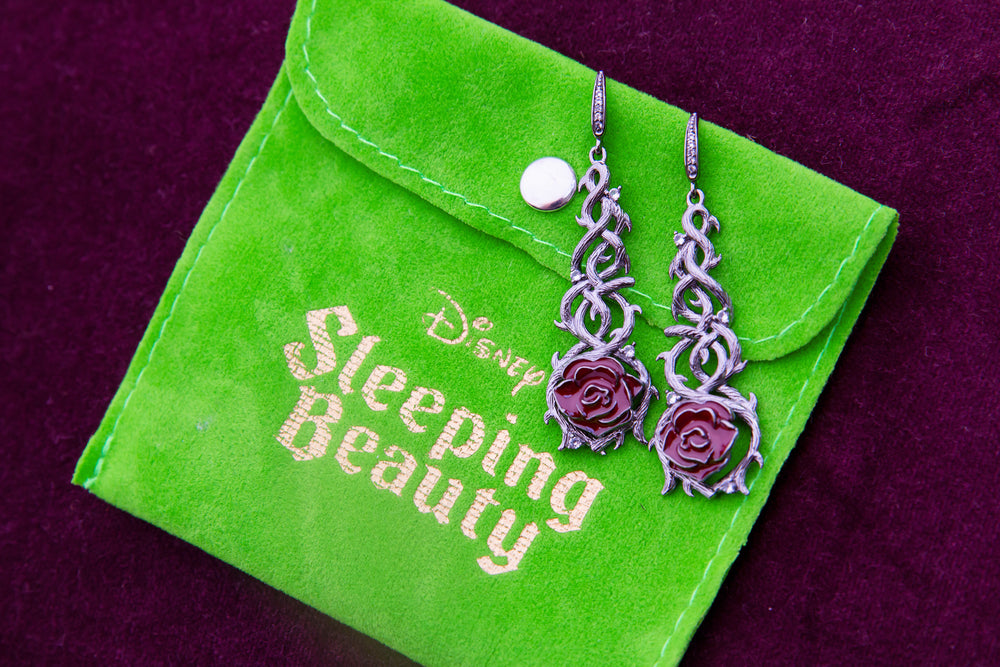 Disney X RockLove SLEEPING BEAUTY Briar Rose Earrings