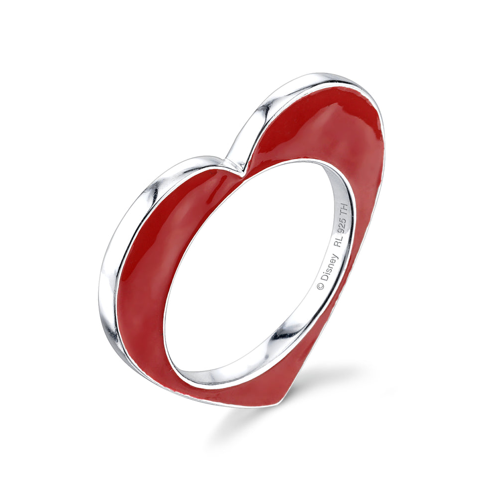 DISNEY'S ALICE IN WONDERLAND Heart Single Stacker Ring