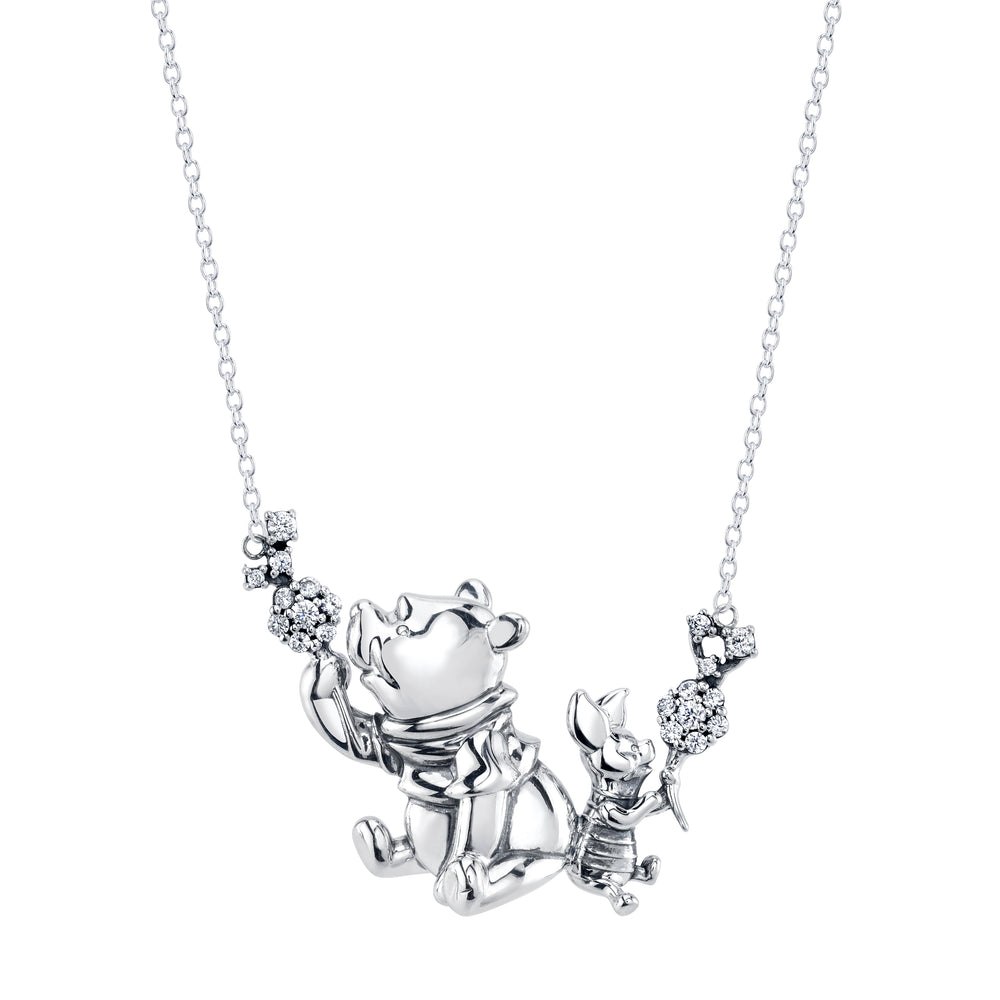 DISNEY'S CHRISTOPHER ROBIN Winnie the Pooh & Piglet Dandelion Necklace