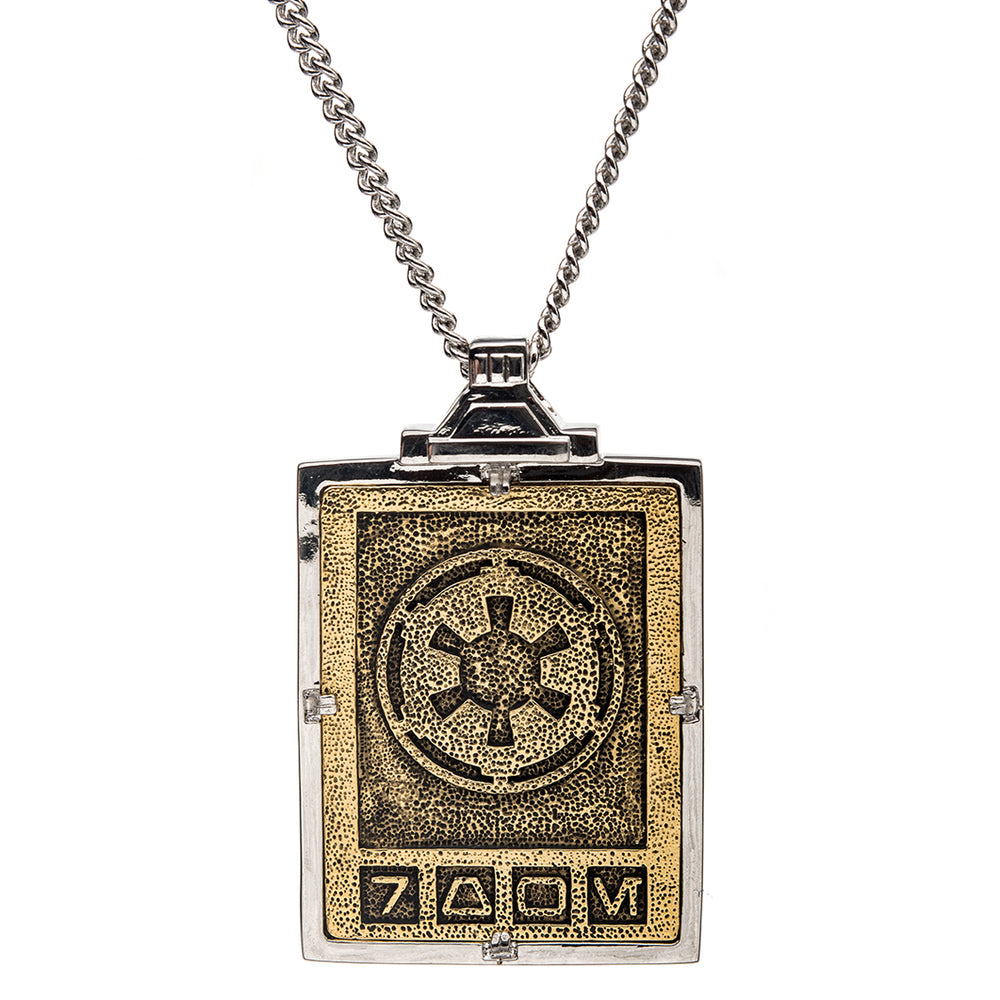 Star Wars™ | RockLove Imperial Credit Necklace – Yellow Gold