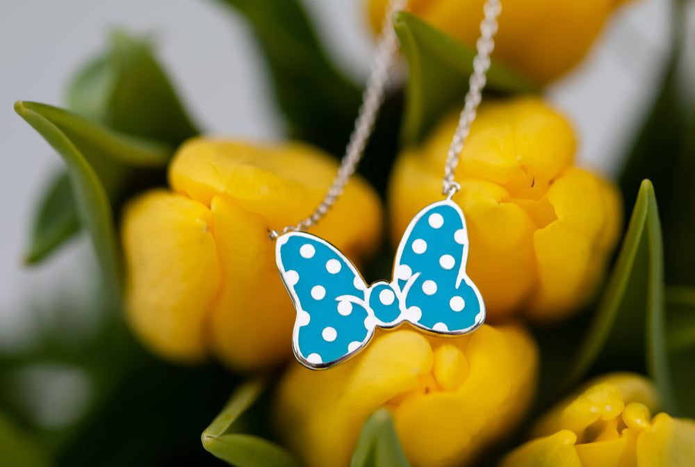 Disney's Minnie Mouse Bow Necklace - LIMITED EDITION Cerulean