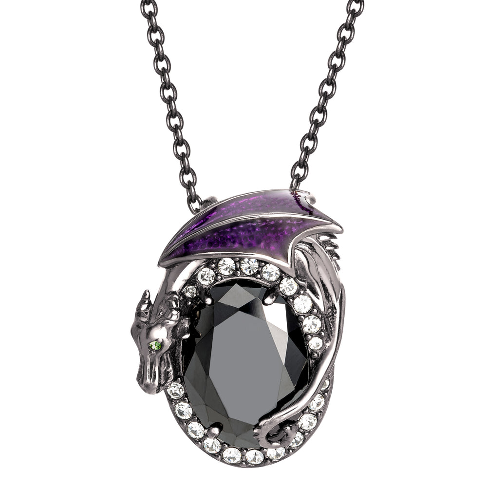 DISNEY'S SLEEPING BEAUTY Maleficent Crystal Necklace